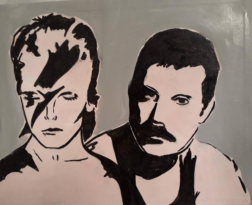 David Bowie, Freddie Mercury par perrine180